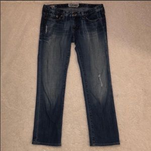 Big Star Rikki Distressed Jeans Crop Size 26